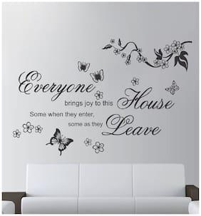 Sticker Studio butterfly text Wall Sticker (PVC Vinyl,Size -60 cm x 91 cm)