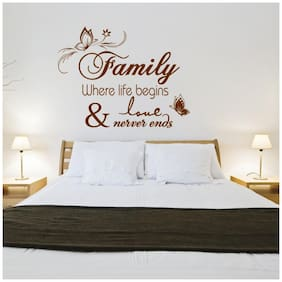 Sticker Studio Where life  Wall Sticker (PVC Vinyl,Size -58 cm x 76 cm)