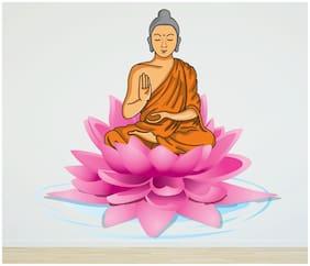 StickMe 'Buddha Wall Sticker'- SM 020 ( PVC Vinyl - 100cm X 100 cm )