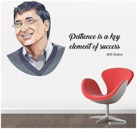 StickMe 'Patience Is A Key Element Of Success - Bill Gates - Inspirational - Motivational - Wall Sticker' -SM658 ( PVC Vinyl - 90cm X 56 cm )