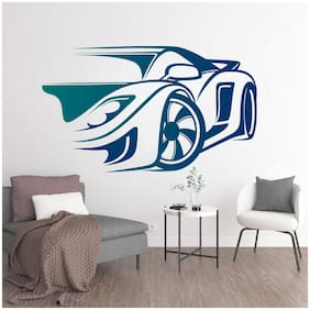 StickMe 'Sports Car Wall Sticker  ' -SM173 ( PVC Vinyl - 100cm X 60 cm )