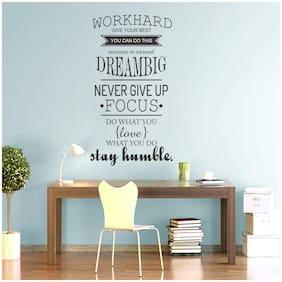 StickMe 'Work Hard Never Give up Inspirational Motivation Quotes Wall Sticker' -SM545 ( PVC Vinyl - 50cm X 90 cm )