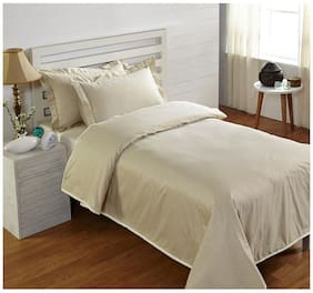 Stoa Paris Cream Single Dohar With 2 Pillow Covers