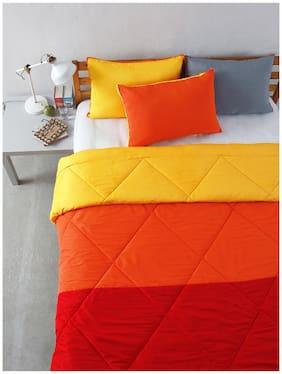 Stoa paris Multi Colour Microfiber Patchwork Bedding Essentials (Comforter (Single))