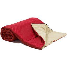 Stoa Paris multipurpose Sleeping bag when zipped and Comforter when unzipped-Red Safari
