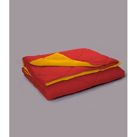 Stoa Paris Yellow And Red Reversible Microfiber Comforter  Single