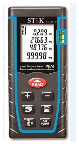 SToK St-Ldm40 Laser Rangefinder/Distance Measuring Meter Tape, 0.05 To 4 m, Black