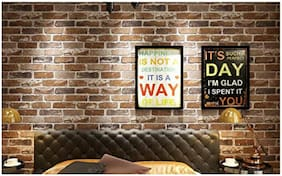 Store2508 3D Effect Paper Textured Retro Brick Pattern Wallpaper (0.53/10 m, Appx. 57 Sq ft)