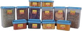 Laplast 1000 ml & 325 ml Blue Plastic Container Set - Set of 12