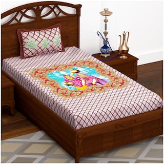 Story@Home Fantasy Single Bedsheet with 1 Pillow Cover (145x225 cm)