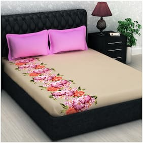 Story@Home 1 Double Bedsheet With 2 Pillow Covers