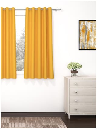 Story@Home 1 pc Faux Silk Blackout Window Curtain-5 ft