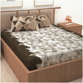 Story@Home 186 TC 1 King Bedsheet with 2 Pillow Cover