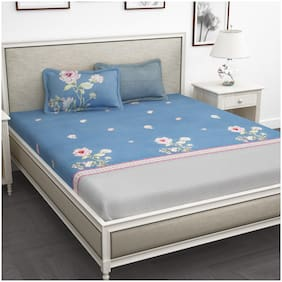 Story@Home 1 King Size Bedsheet With 2 Pillow Cover