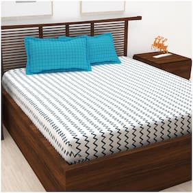 Story@Home 120 TC 1 Double Bedsheet With 2 Pillow Cover