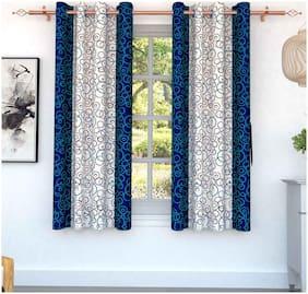 Story@Home 2 pcs Galaxy Window Curtains