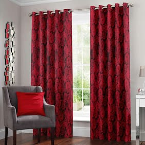 Story@Home 2 Pcs Polyester Nature Door Curtain - 7ft