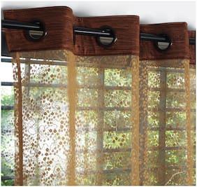 Story@Home 2 Pcs Aura Door Sheer Curtains