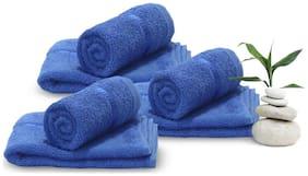 Story@Home 450 GSM Cotton Hand Towel ( 6 Pieces , Blue )