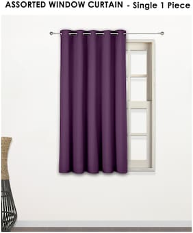 Story@Home Assorted color and design 1 PC window curtain