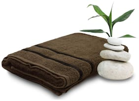 Story@Home 450 GSM Cotton Bath towel ( 1 piece , Brown )