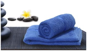 Story@Home 450 GSM Cotton Hand Towel ( 2 Pieces , Blue )