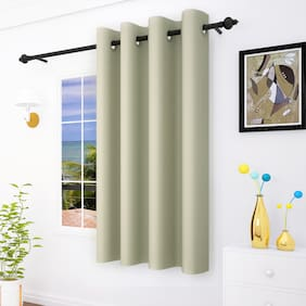 Story@Home 1 Pc Faux Silk Blackout Window Curtain - 5ft