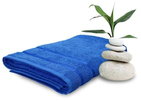 Story@Home 450 GSM Cotton Bath Towel ( Pack of 1 , Blue )