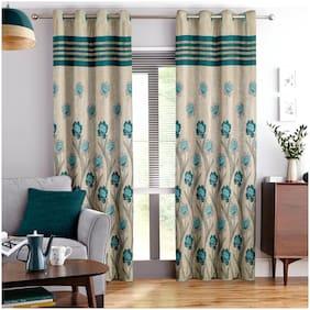 Story@Home Berry Jacquard 2 PC Door curtain-118 cm x 215 cm