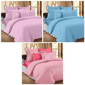 Story@Home Spark Set of 3 single bedsheet with 3 pillow covers