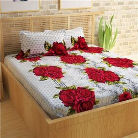 Story@Home Magic 1 Double Bedsheet with 2 Pillow Covers