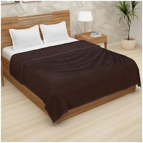 Story@Home Double Size Flannel Solid Blanket