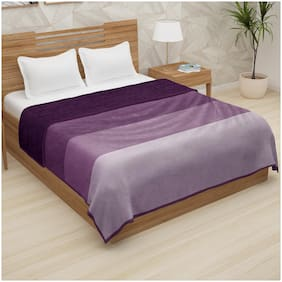 Story@Home Double Size Flannel Purple Blanket