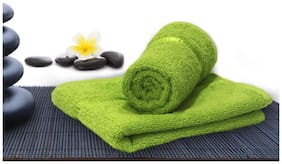 Story@Home 450 GSM Cotton Hand Towel ( Pack of 2 , Green )