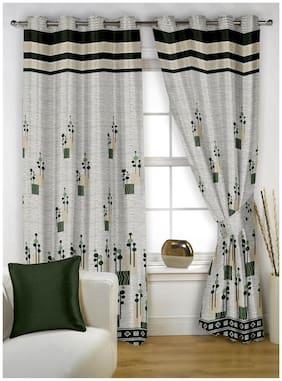 Story@Home Jacquard 1 pc Window curtain-5 feet (118 cm x 152 cm)