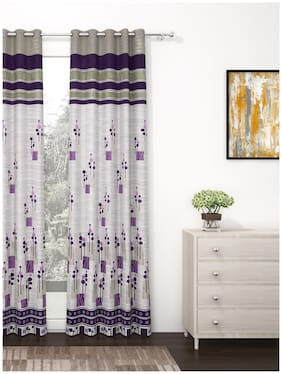 Story@Home 1 Pc Jacquard Berry Door Curtain - 7ft