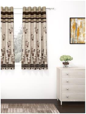 Story@Home 1 Pcs Jacquard Berry Window Curtain - 5ft