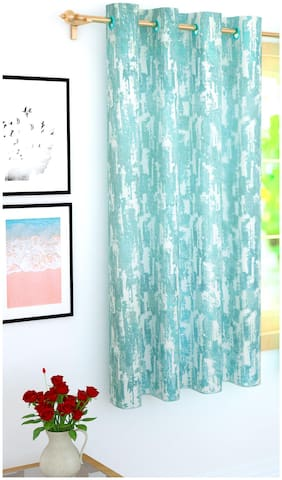 Story@Home 1 Pc Jacquard Bloom Window Curtain - 5ft