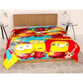 Story@Home  Micro Fiber and Flannel Feather 1 Single Dohar/AC Quilt