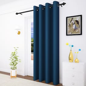 Story@Home 1 Pc Faux Silk Blackout Door Curtain-7 ft