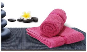 Story@Home 450 GSM Cotton Hand Towel ( Pack of 2 , Pink )