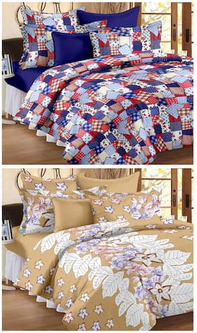 Story@Home Metro set of 2  Double Bedsheet with 4 pillow covers