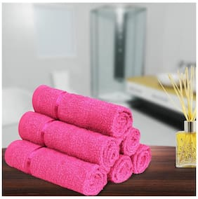 Story@Home Cotton Face towel - Set of 6 , Pink
