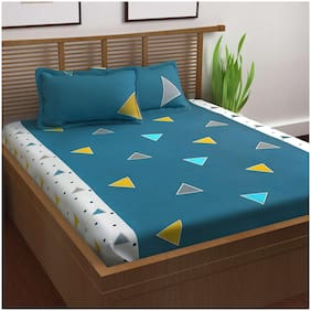 Story@Home Prism 1 Double Bedsheet With 2 Pillow Covers