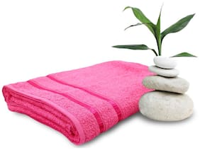Story@Home 450 GSM Cotton Bath Towel ( Pack of 1 , Pink )