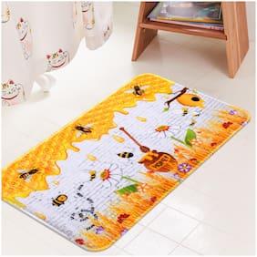 Story@Home  Printed Anti-Slip bath Mats Elastic Absorbent Sponge Flannel Washroom Floor Mat;Bath Mat