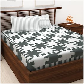 Story@Home Prism 1 King Bedsheet With 2 Pillow Covers