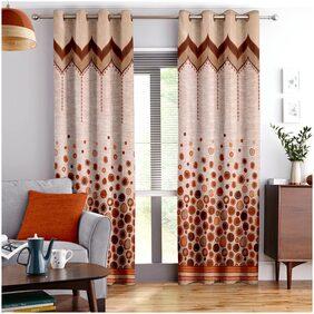 Story@Home Berry Jacquard 3 PC Door curtain-118 cm x 215 cm