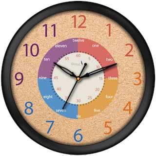 Story@Home Round Shape Wall Clock With Glass For Home