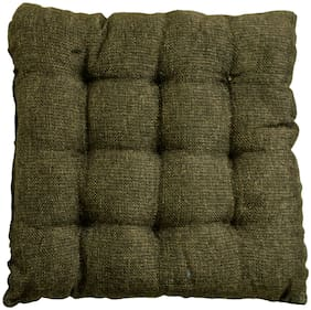 Story@Home Square Corduroy Chair Pad - 14x14;Green
